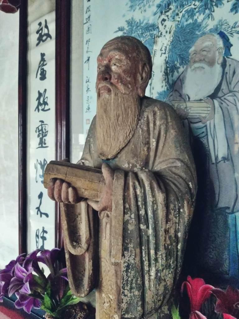 Figura Konfucjusza w Pingyao w Chinach.