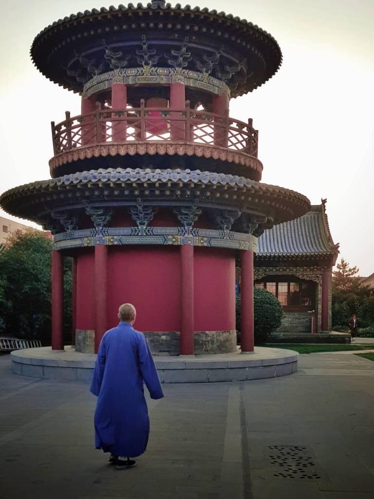 Buddyjski mnich w Chinach.
