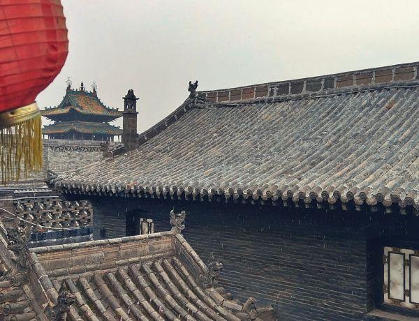 Dachy starożytnego miasta Pingyao.
