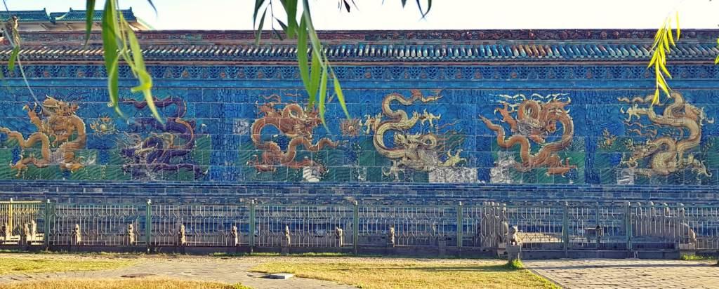Ściana Dziewięciu Smoków w Datongu, w Chinach.