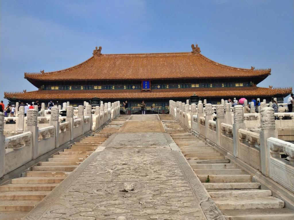 Cesarskie schody do Pawilonu Najwyższej Harmonii w Zakazanym Mieście w Pekinie.
