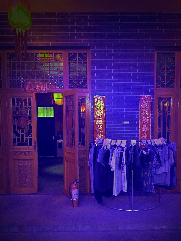 Pranie suszy się w Pingyao Jiaxin Guesthouse.