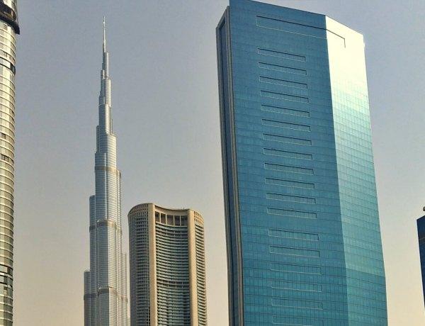 Drapacze chmur w Dubaju.