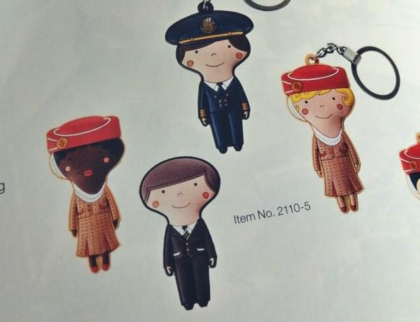 Pamiątki linii lotniczych Emirates.