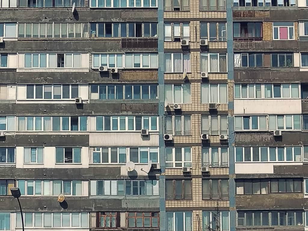 Bloki w Kijowie.