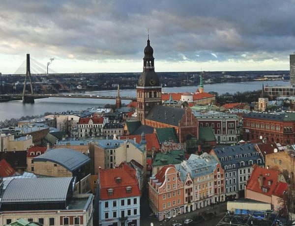 Widok na łotewską stolicę.