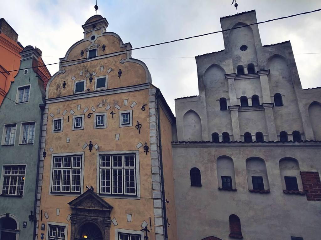 Średniowieczne kamienice w Rydze - Trzej Bracia.