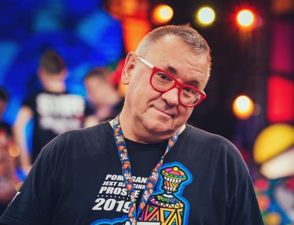 Jurek Owsiak na 27 finale WOŚP.