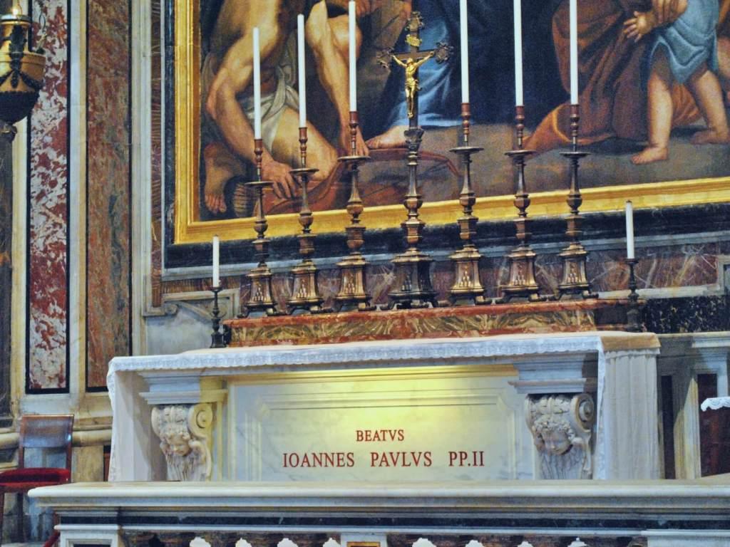 Grób papieża Jana Pawła II.
