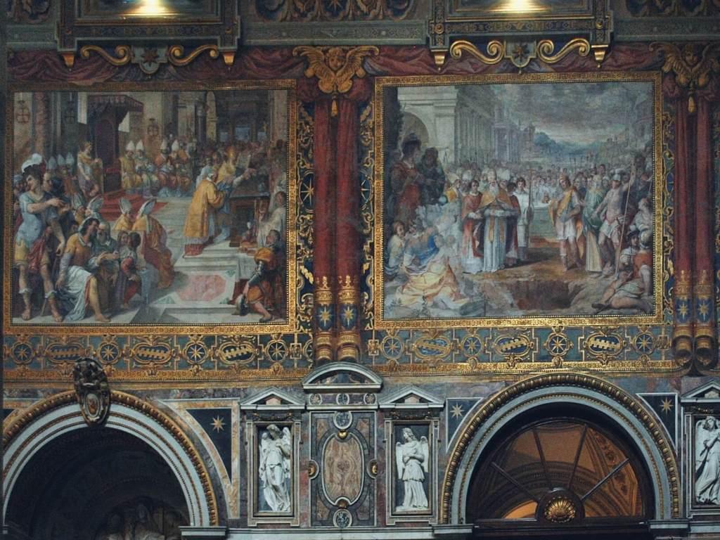 Freski w bazylice na Lateranie.