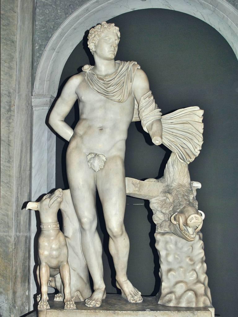 Nagie, marmurowe figury w Wtykanie przykryte zostały listkami figowymi.