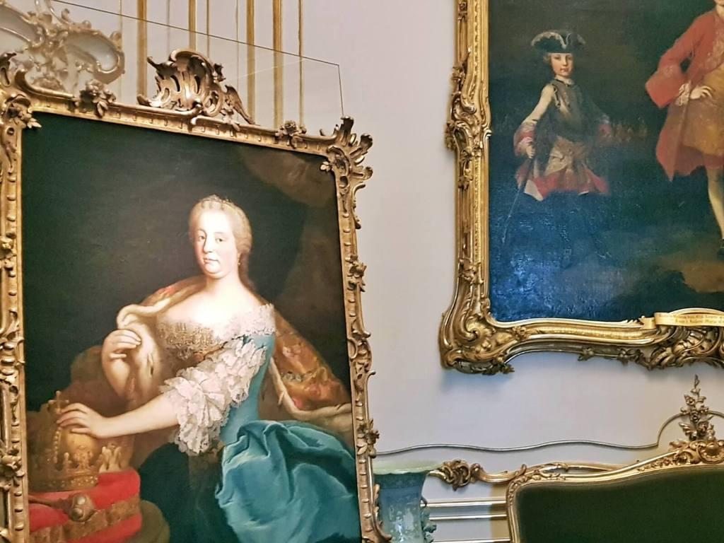 Wnętrza pałacu Schönbrunn w Wiedniu w Austrii.