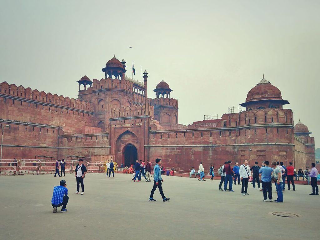 Czerwony fort w Delhi w Indiach.