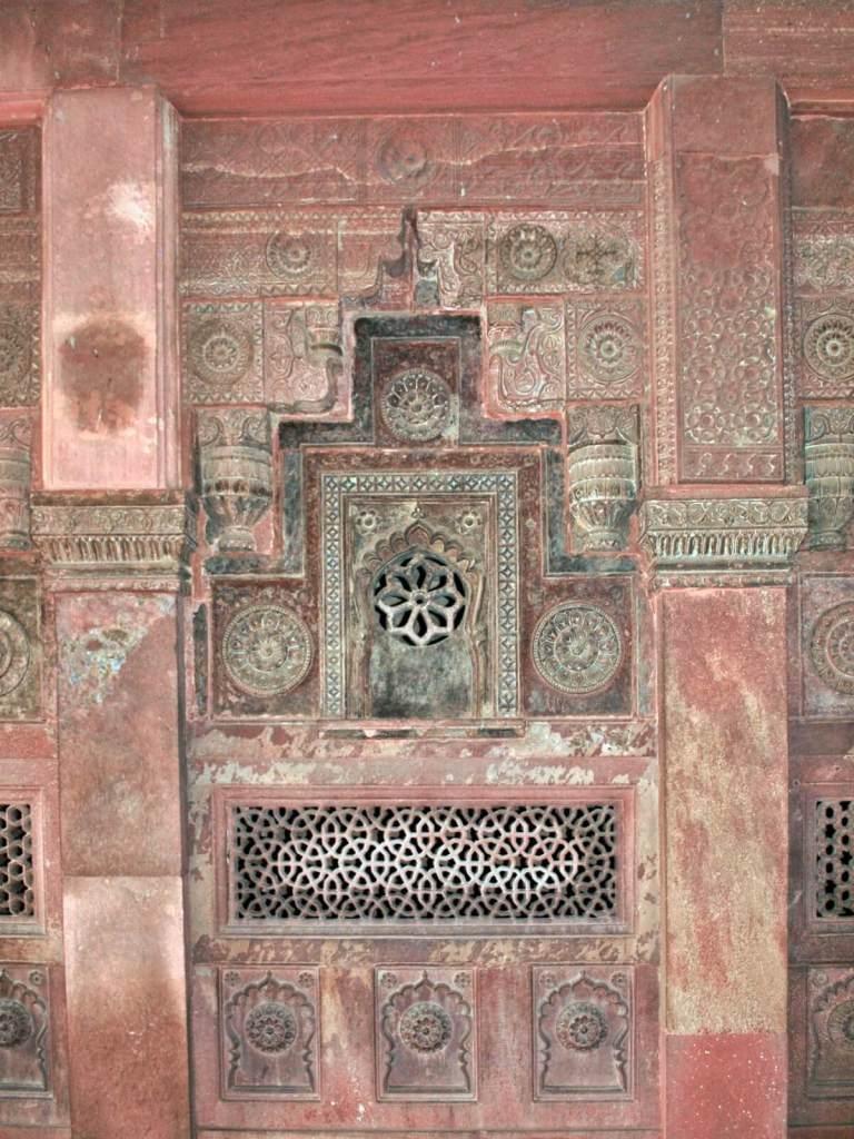 Dekoracje fortu w Agrze.