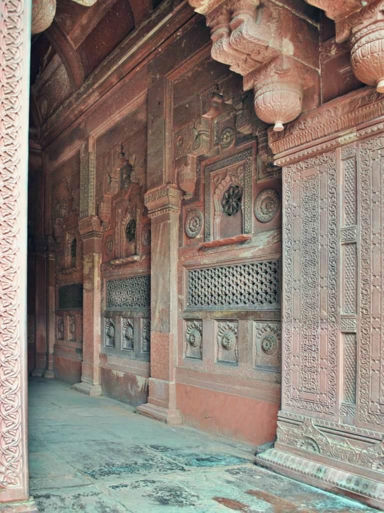 Fort w Agrze w Indiach.