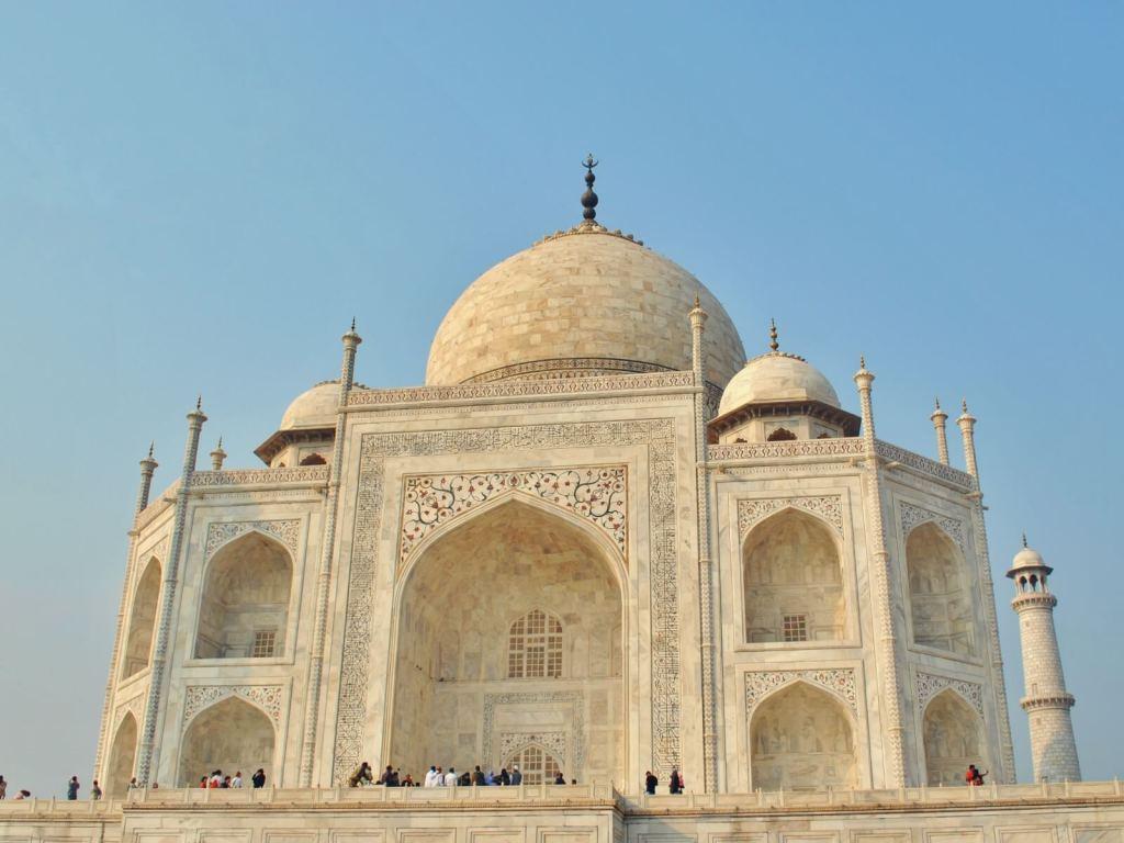Grobowiedz Taj Mahal w Indiach.