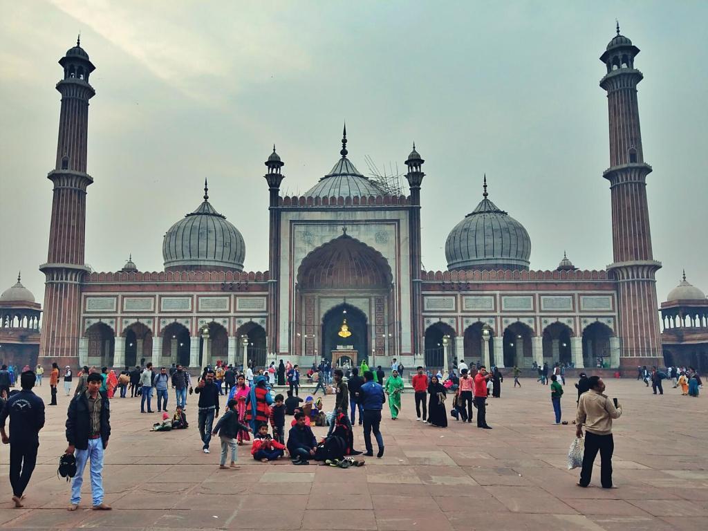Wielki Meczet w Delhi.