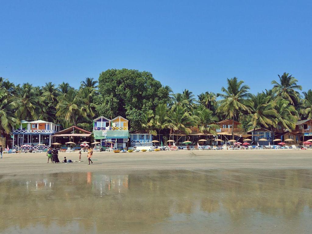 Plaża na Goa.