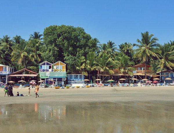 Plaża w Palolem na Goa.