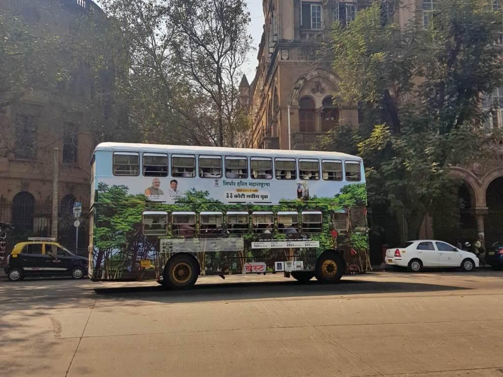 Autobus na ulicach Bombaju.