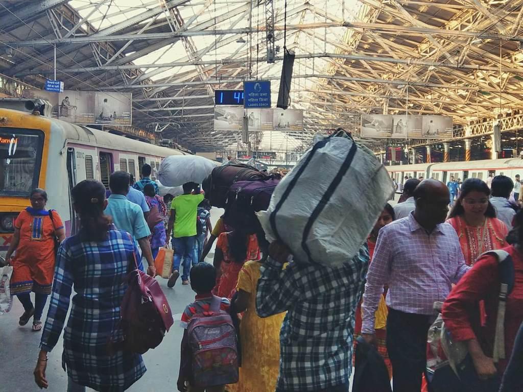 Dworzec kolejowy w Bombaju w Indiach.