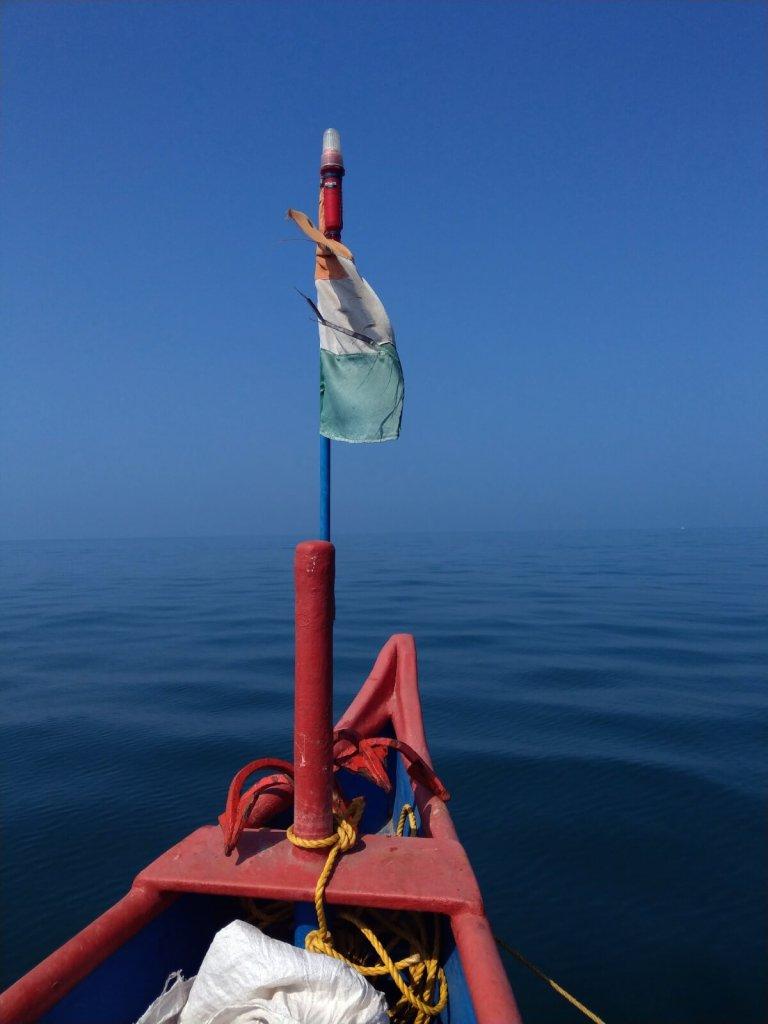 Łódź na Morzu Arabskim na Goa.