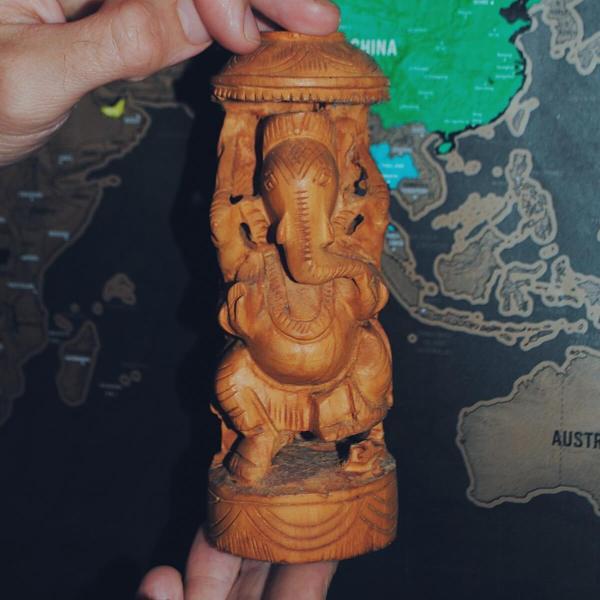 Bóg słoń Geneśa z Indii.