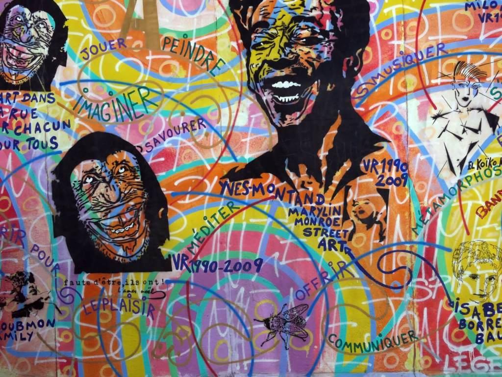 Graffiti na Murze Berlińskim.