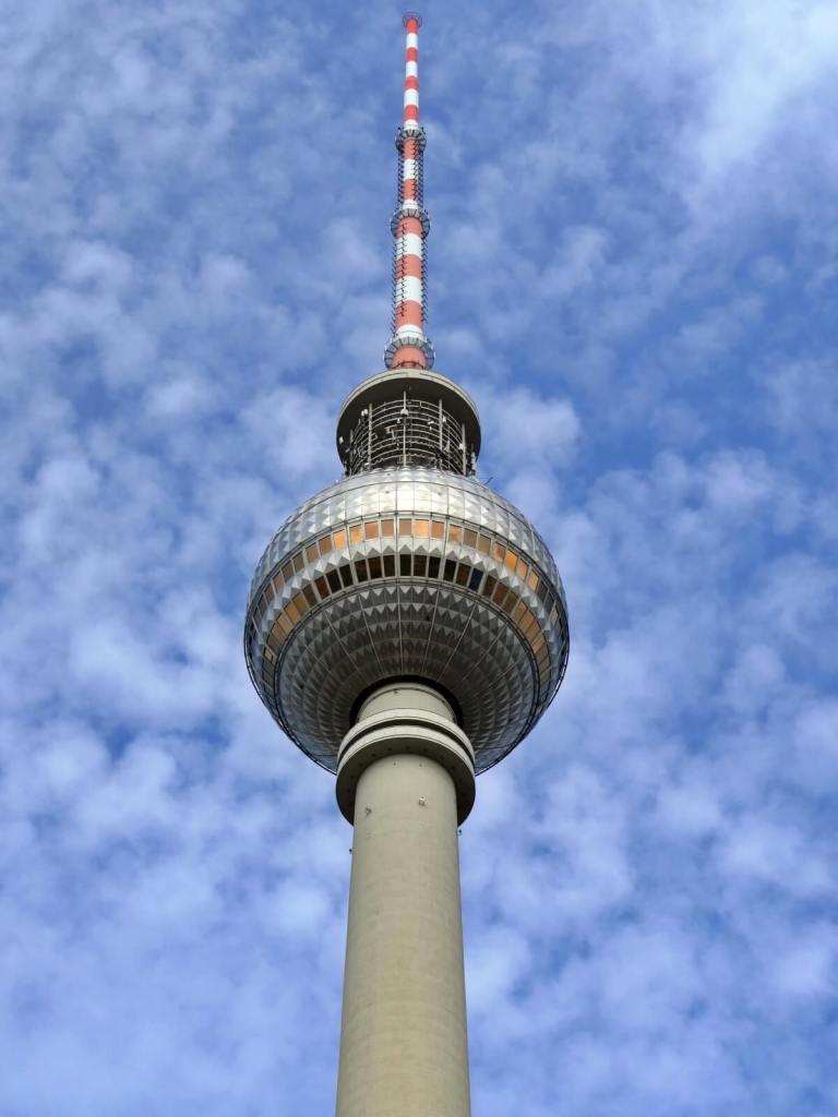 Wieża telewizyjna w Berlinie.