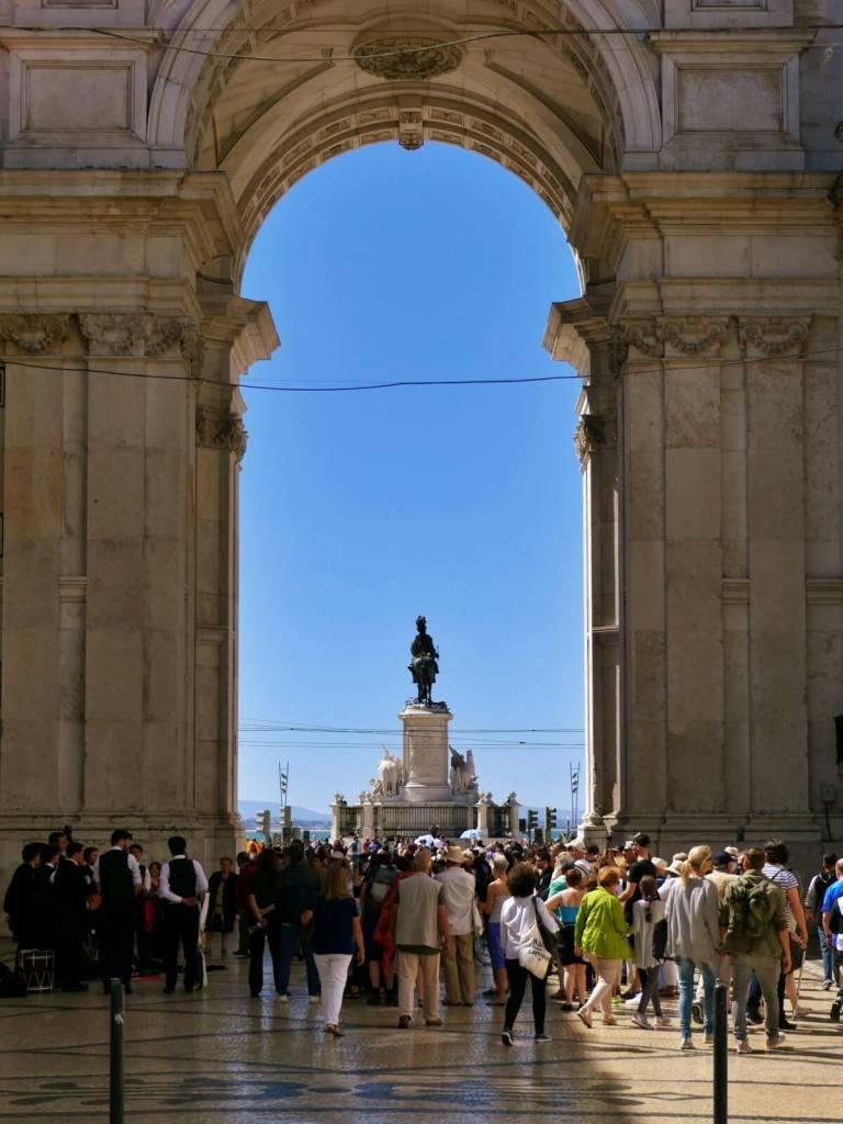 Łuk triumfalny w Lizbonie.