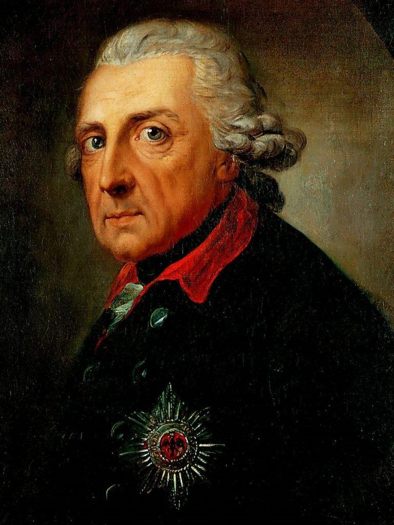 Portret króla Prus Fryderyka II Wielkiego.