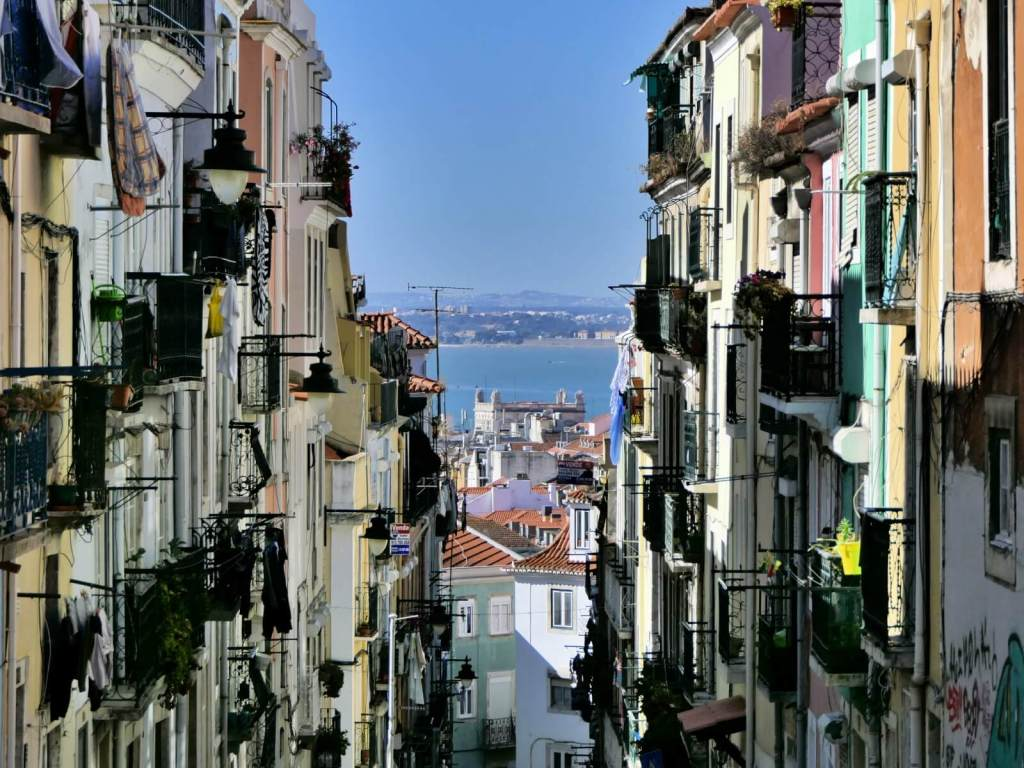 Ulice Lizbony.