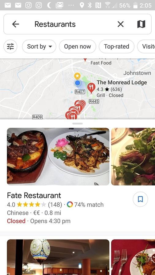Aplikacja dla podróżników Mapy Google.