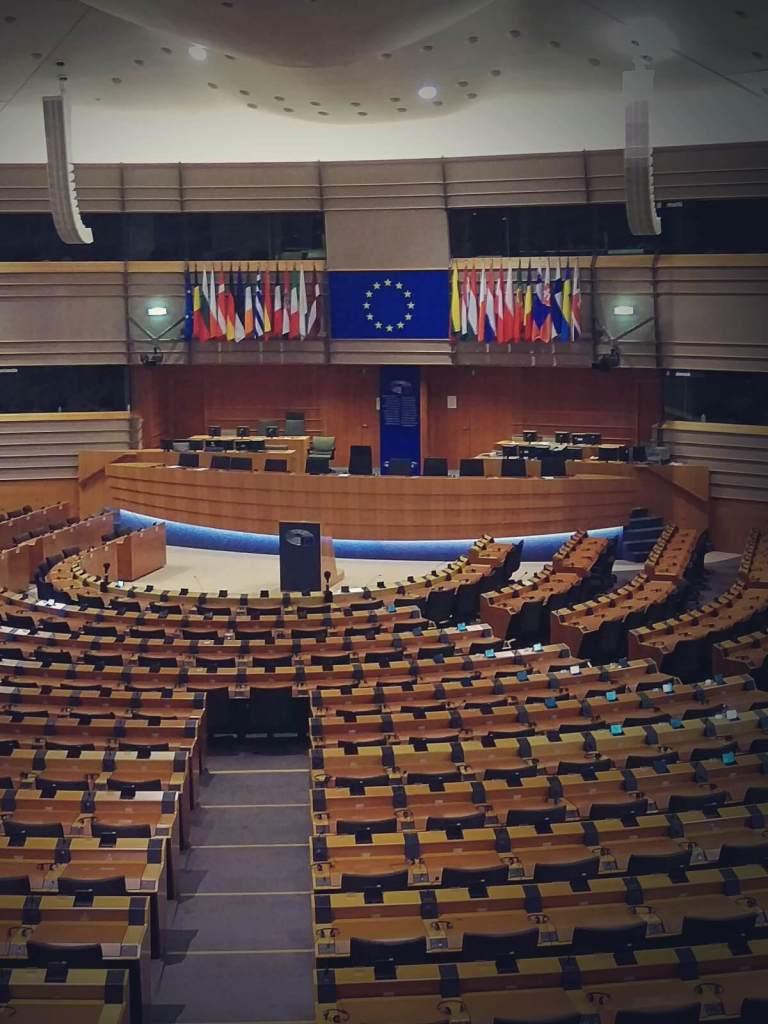 Parlament Europejski w Brukseli.