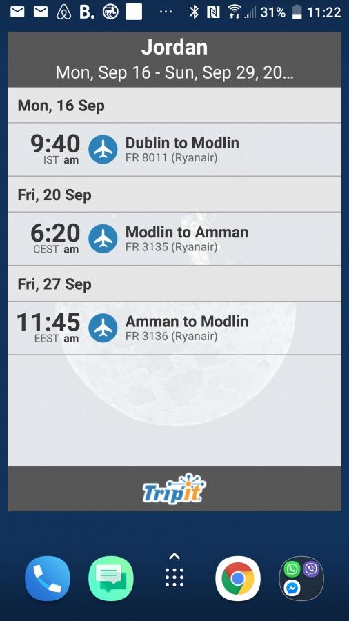 Aplikacja dla podróżników Tripit.