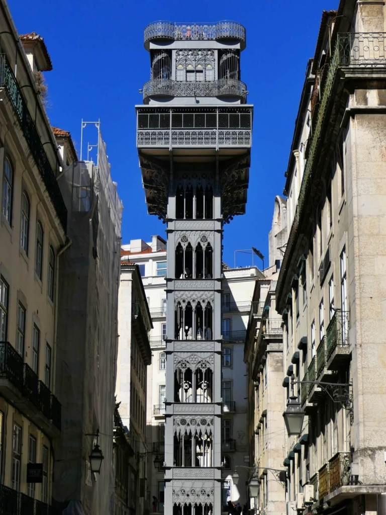 Miejska winda w Lizbonie Santa Justa.