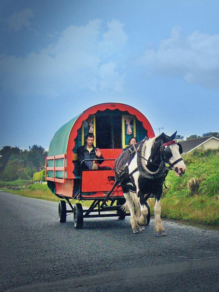 Przedstawiciele irlandzkiej grupy etnicznej - travellers.