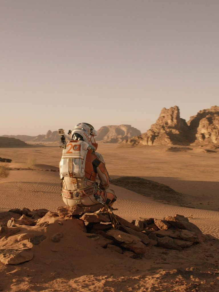 Kadr z filmu Marsjanin