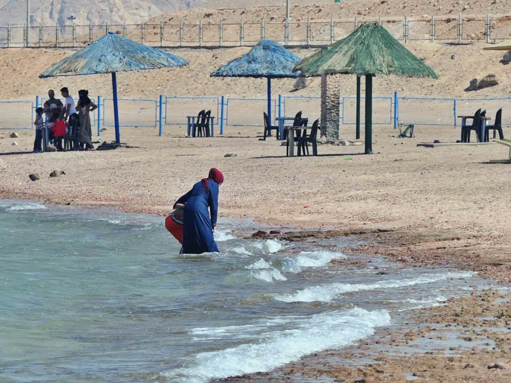 Plaża w Akabie w Jordanii.