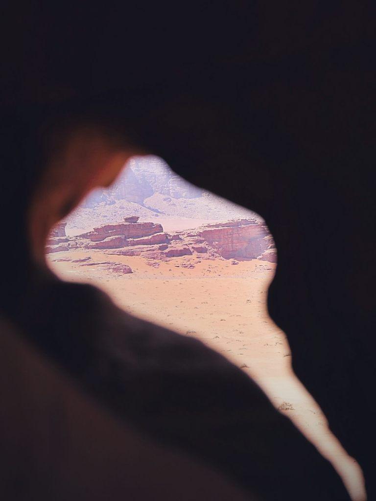 Pustynia Wadi Rum w Jordanii.