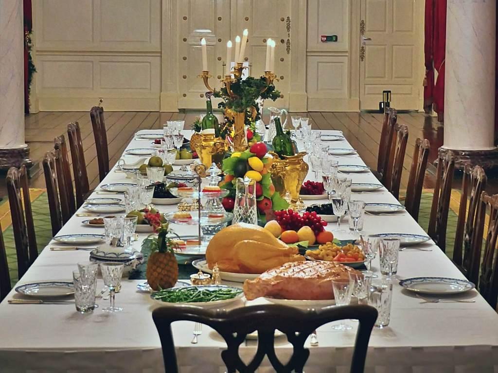Tradycyjny obiad świąteczny w Irlandii.
