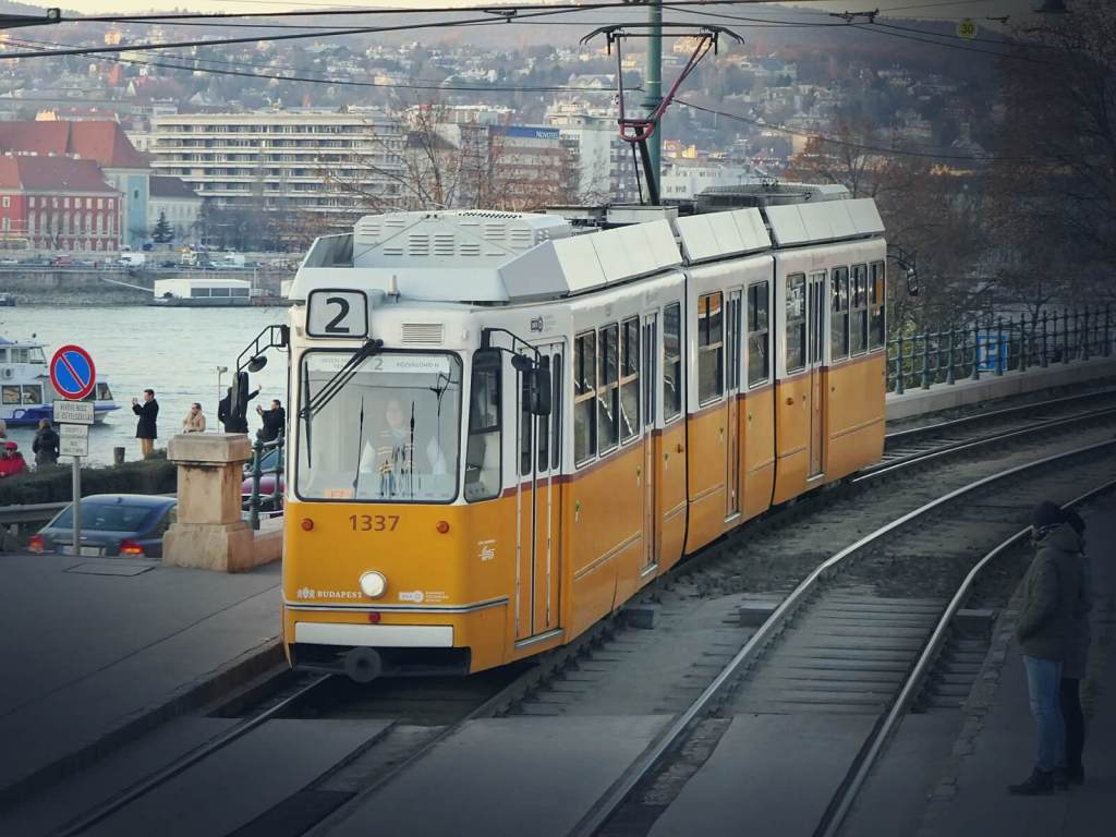 Tramwaj w Budapeszcie.