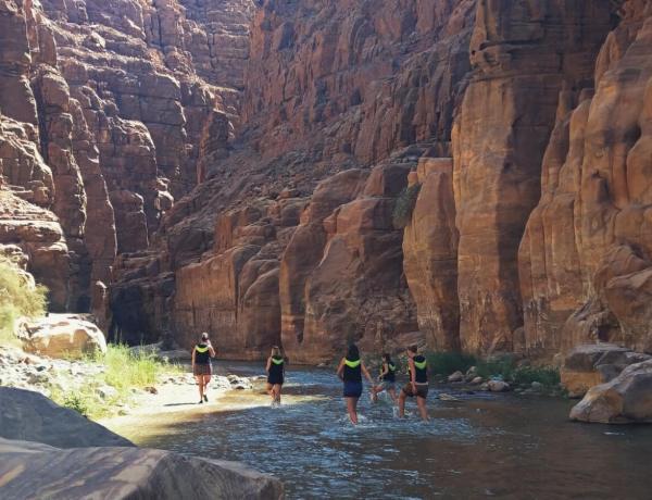 Wadi Mujib w Jordanii.