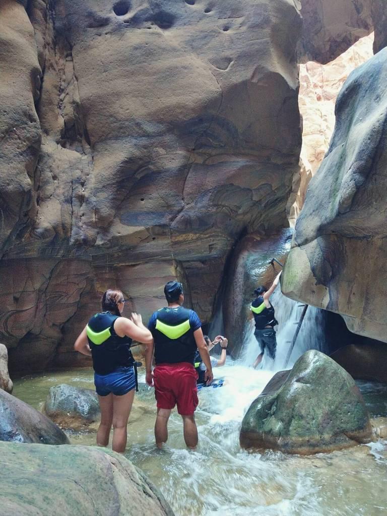 Kanion Wadi Mujib w Jordanii.
