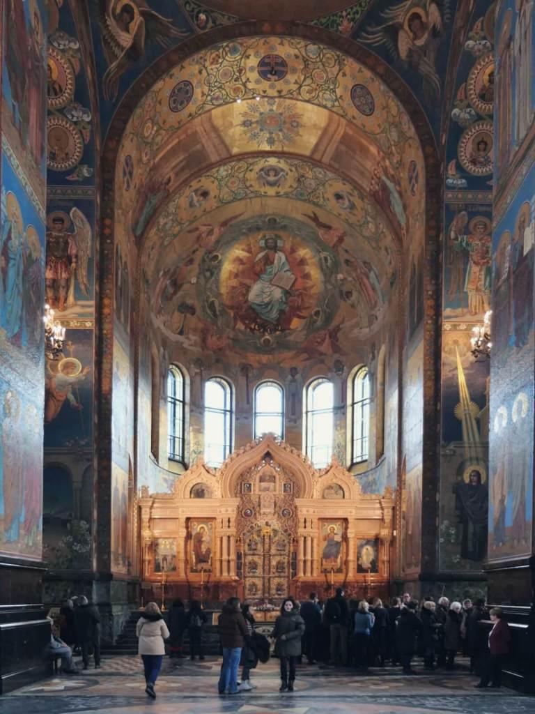 Ołtarz w soborze na Krwi w Petersburgu.
