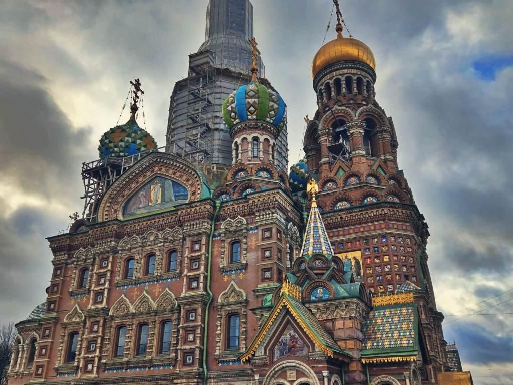 Sobór na Krwi w Sankt Petersburgu, w Rosji.