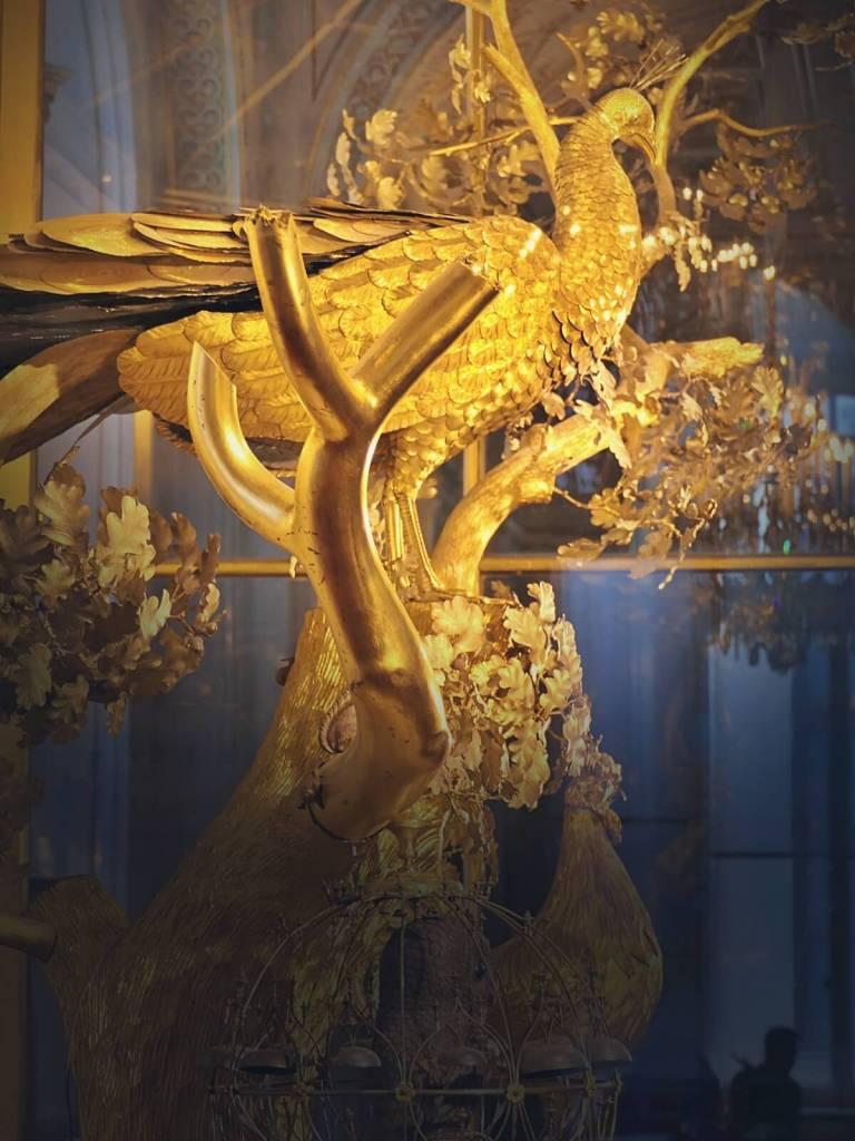 Złoty Paw, zegar z Pałacu Zimowego w Sankt Petersburgu.