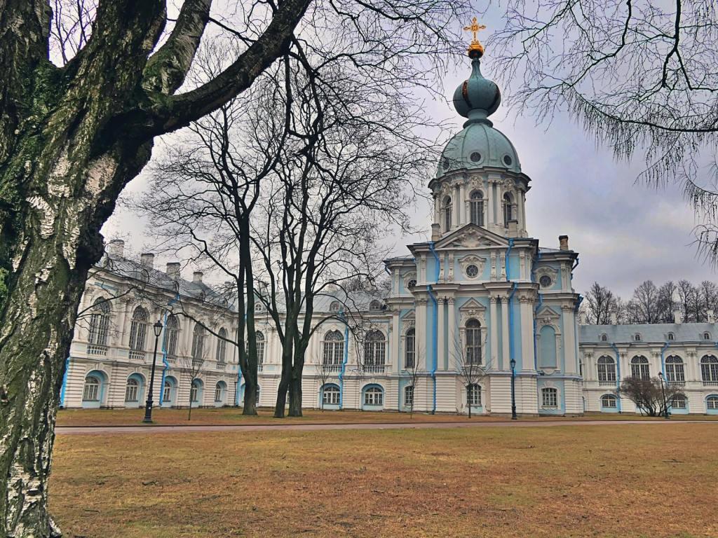 Prawosławny klasztor w Petersburgu w Rosji.