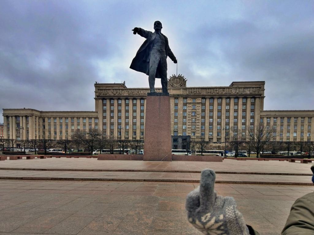 Pomnik Lenina w Petersburgu w Rosji.