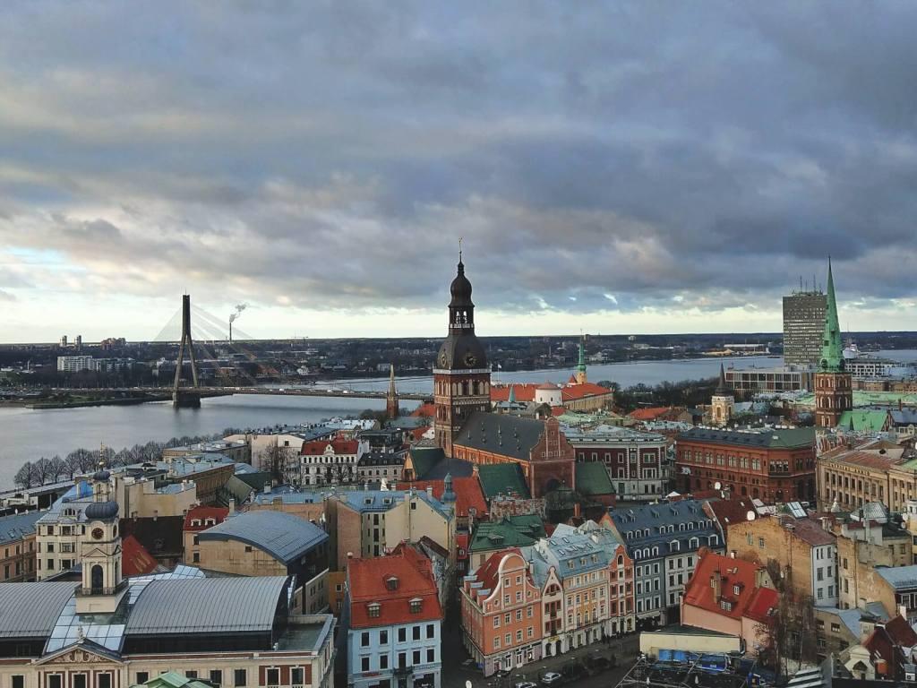 Widok na stolicę Łotwy - Rygę.
